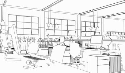 Büroarchitektur (Zeichnung)