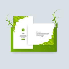 Green eco frame template. Web design vector.