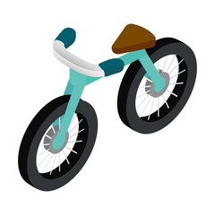Bike 3d isometric icon