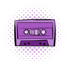 Music-cassette or tape comics icon