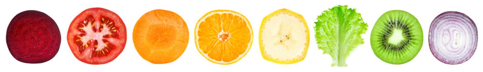 Papiers peints Cuisine Slices of fruit and vegetable
