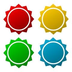 Blank starburst shapes