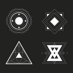 Set of Geometric Design, vector