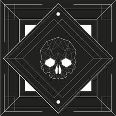Skull Geometric Design, vector