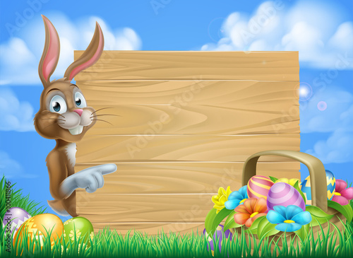 """""""Easter Bunny Sign Background"""" Stock Image And Royalty"""