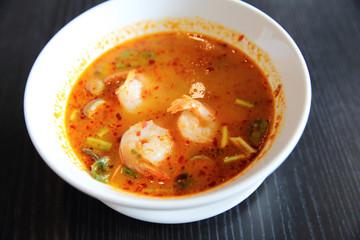Tom Yum soup Thai traditional spicy prawn soup