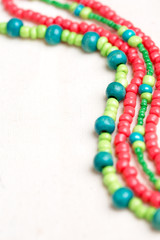 glass beads and thread beads