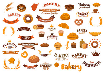 Bakery and pastry food design elements