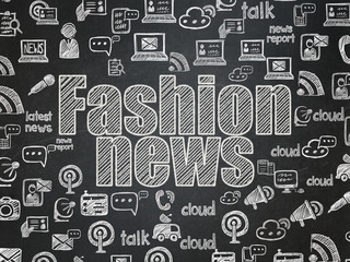 News concept: Fashion News on School Board background