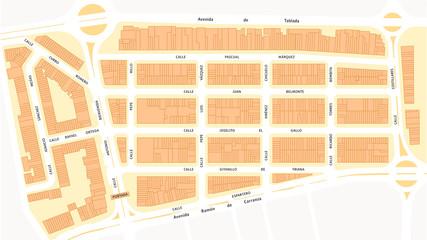 Plano de la Feria de Sevilla