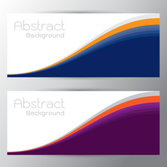 Vector illustration of purple orange abstract background with on