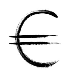 Currency symbol hand drawn. Euro sign.