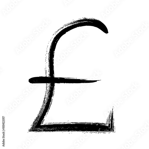Currency Symbol Hand Drawn Gbp Pound Sign Stock Image And Royalty