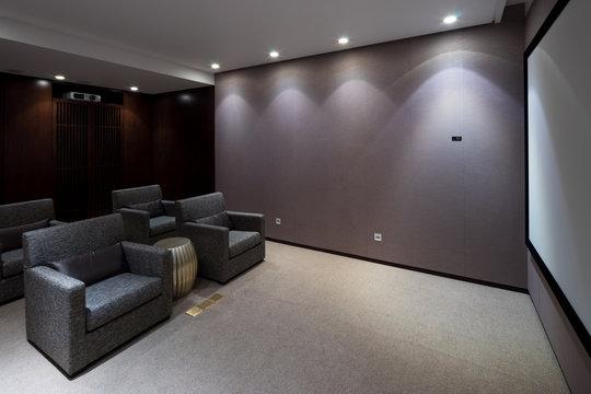 interior of modern home theatre