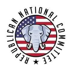 Republican Party Elephant American Vector Background Poster