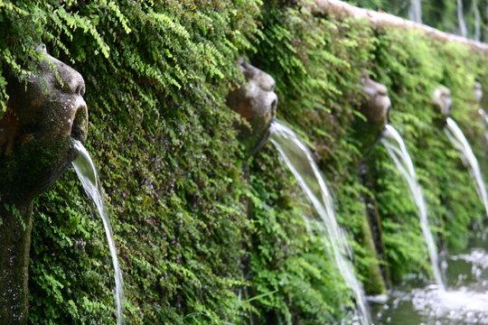 Allee der hundert Brunnen in der Villa d'Este, Tivoli