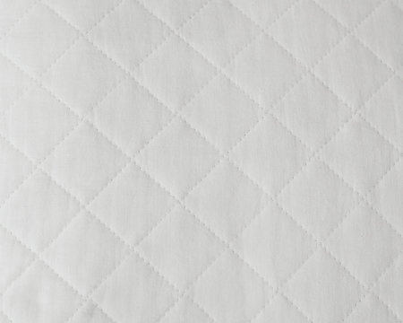 Quilted white natural textiles