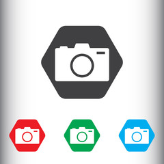 Camera icon for web and mobile