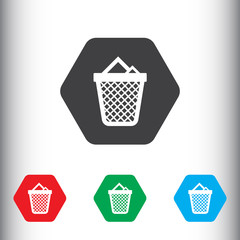 Trash icon for web and mobile