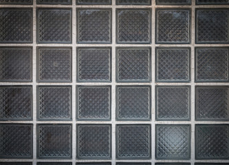 Wall Mural - Closeup of the pattern of the glass block