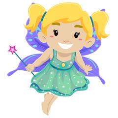 Little Girl Wearing Fairy Costume