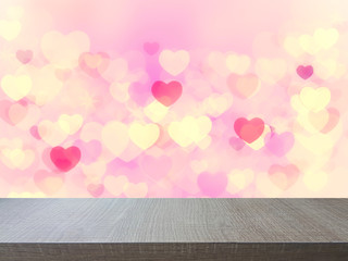 Top of wood table on abstract  background. you can be used for display your products