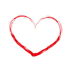 Art heart on a white background