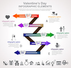 Valentines Day arrow infographic