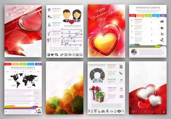 Valentine's day Infographic template brochure