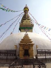 Stupa du temple de Swayambunath à Katmandou, Népal