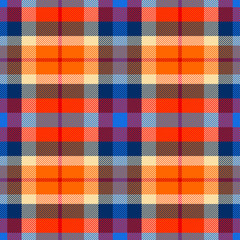 Tartan seamless pattern, checkered plaid vector background