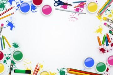 Art supplies and pencils