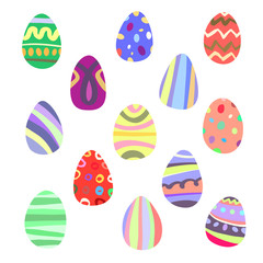 Set of simple graphic easter eggs