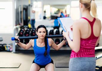 Beautiful women in gym