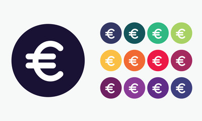 Euro symbol.Vector set.