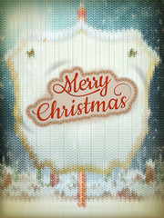 Christmas knitted background. EPS 10