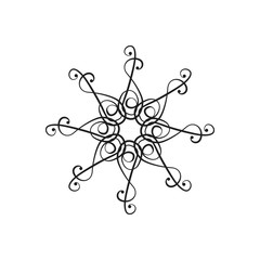Vector design element in the form of a chandelier the bottom view up.