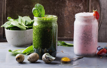 Strawberry and Spinach Smoothies