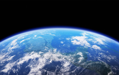 High Resolution Planet Earth view. The World Globe from Space in