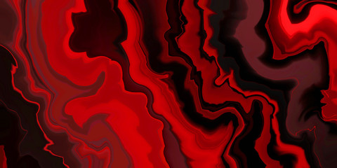 abstract red and black background, marbled agate rock design style illustration