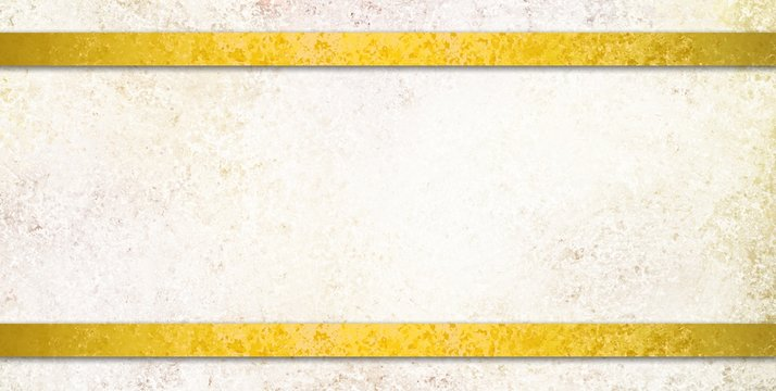 textured white background with gold ribbon