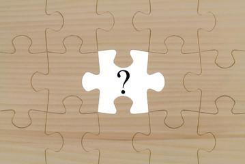 Obraz Fragezeichen fehlendes Puzzleteil - fototapety do salonu