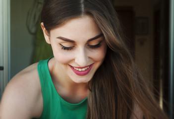 Beautiful italian girl smiling