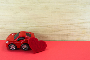 car and red heart