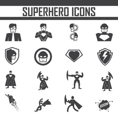 superhero  icon vector.