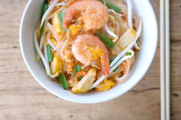 Thailand style noodles with shrimp ,Pad thai