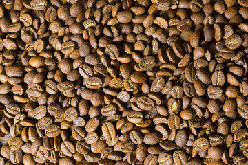 roasted coffee beans,