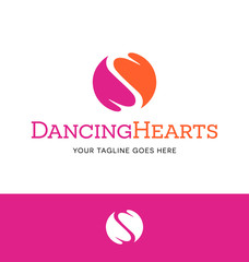 logo of 2 hearts fitted together for business, organization or website