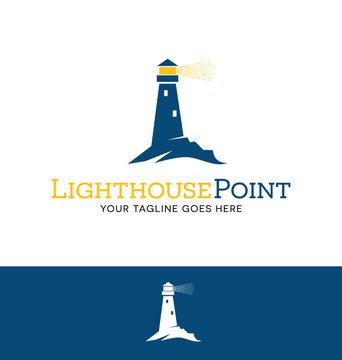 lighthouse logo for business, organization or website