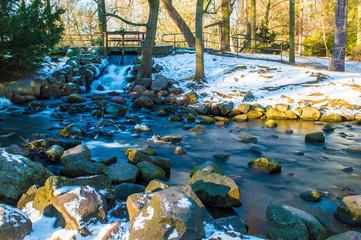 Oliwa stream at winter time, Gdansk
